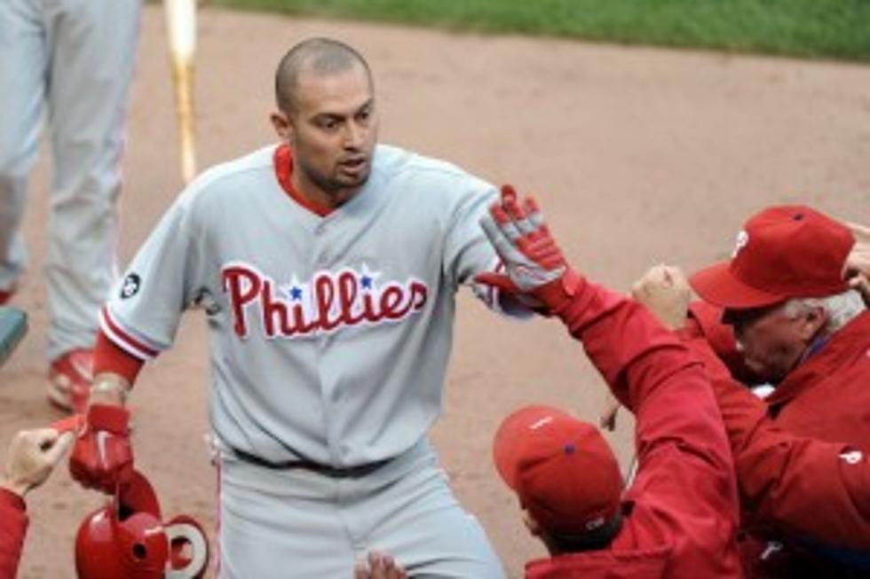 Philadelphia Phillies Outfielder Shane The Flyin Hawaiian Victorino Guest Stars As A Business Executive
