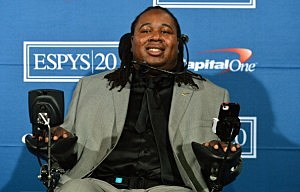 Eric LeGrand poses in the press room during the 2012 ESPY Awards