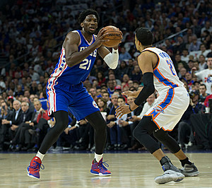 Joel Embiid was supposed to compete in the Rising Stars game, as well as the Skills Challenge (Mitchell Leff/Getty Images)