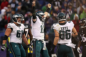 Wentz threw the second-most passes (607) ever by a rookie. (Patrick Smith, Getty Images)