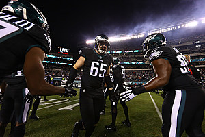 Lane Johnson was suspended 10 games for violating the league's policy on performance-enhancing drugs. (Getty Images, Al Bello)
