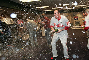 Brett Myers enters the Reading Baseball Hall of Fam e(Jed Jacobson/Getty Images)