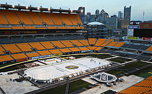 2017 Coors Light NHL Stadium Series - Pittsburgh Rink Build-Out