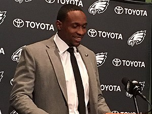 Turns out the Eagles only guaranteed Alshon Jeffery 9.5 million. (Photo: John McMullen/973espn.com)