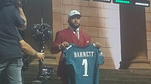 Eagles Defensive End Derek Barnett is introduced at the NFL Draft