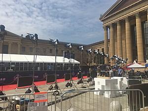 NFL Draft Red Carpet just outside the Philadelphia Art Museum