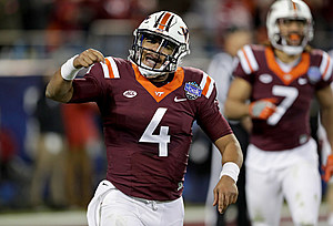 Former Virginia Tech QB Jerod Evans didn't last long with the Eagles. (Streeter Lecka/Getty Images)
