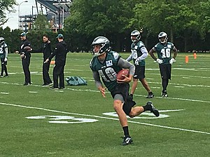 Eagles' WR Mack Hollins heads up the field at the team's recent rookie camp. (Photo: John McMullen/973espn.com)
