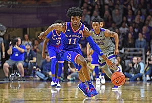 Kansas forward Josh Jackson, is projected to go within the top-3 on draft day. (Photo by Peter G. Aiken/Getty Images)