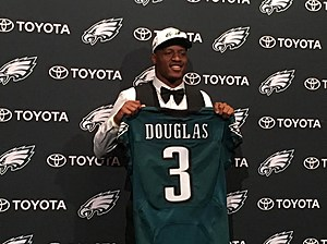 Eagles Rookie CB Rasul Douglas has his ups and downs during offseason work. (Photo: John McMullen/973espn.com)