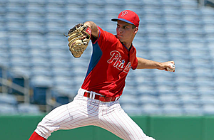 Phillies prospect Nick Fanti pitches for the GCL in 2016 (Cliff Welch/Icon Sportswire via Getty Images)