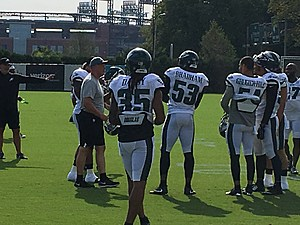 Ronald Darby was working with the starters at his first Eagles practice. (Photo: John McMullen/973espn.com)