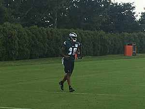 Eagles rookie receiver Shelton Gibson is starting to feel more comfortable. (Photo: John McMullen/973espn.com)