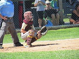 ASHORE catcher Cole Campbell during the Mid-Atlantic regional in Somers Point.
