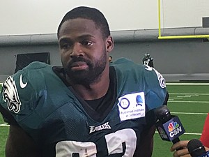 After limping through practice Monday, Torrey Smith claimed he was just a little sore. (Photo: John McMullen/973espn.com)