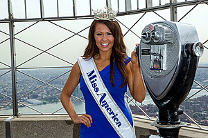 Miss America 2018 Cara Mund Visits The Empire State Building